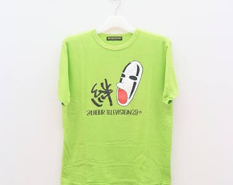 Vintage 24HOUR TELEVISION 29 Streetwear Green Tee T Shirt Size L