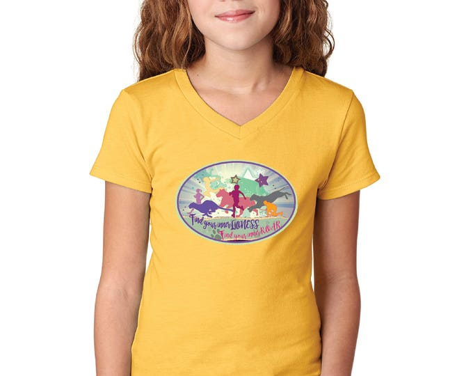 Girl Power Girl's Vneck Neck Tshirt - Custom Design