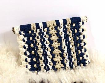 Vintage Woven Clutch Purse, Seven By Dimitri Handbag