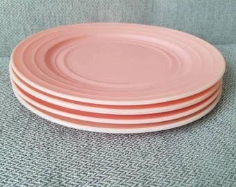 Hazel Atlas Plates in Pink