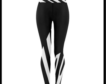 The Walking Zebra Low Rise Leggings