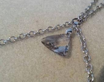 Silver chain with swarovski