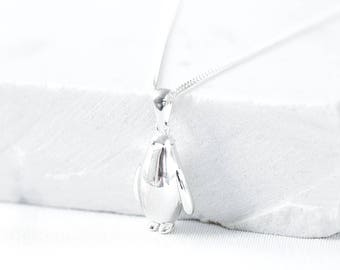 Silver Penguin Charm Pendant, penguin gift, penguin necklace, penguin charm, silver penguin, small pendant, animal necklace
