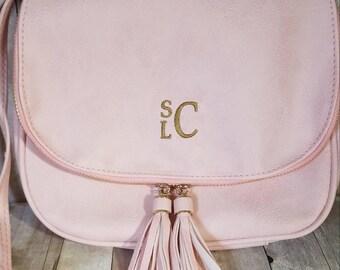 Monogrammed Purse, Boho Purse, Crossbody Bag, Vegan Leather Purse, Gift for Her, Monogram Birthday Gift, Personalized Handbag, Monogram Gift
