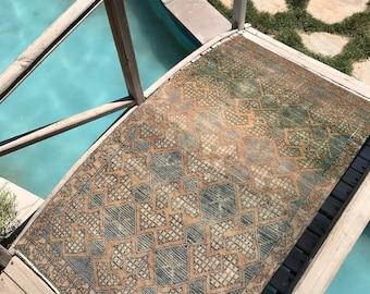 "Oushak rug,turkish rug.3""6x6""5ft.home interior rug,floor rug,modern desing rug,area rug,hallway rug,handspun rug,turkish rug,old rug,rugs"