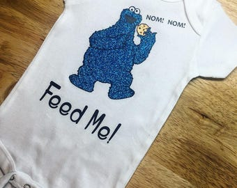 Feed Me! Sesame Street Cookie Monster Onesie