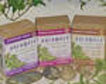 Set of 6 Auromere Organic Ayurvedic Soaps - Himalayan Rose, Sandalwood/Tumeric OR Lavender - six (2 of each scent) for 25 dollars