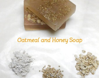 Oatmeal and Honey Bar Soap Real Oatmeal Soap Oatmeal Milk and Honey soap