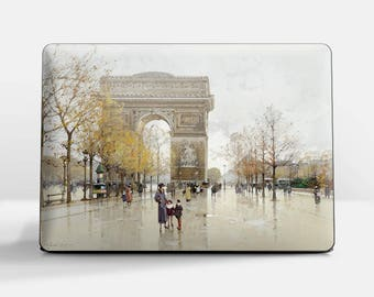 "Laptop skin (Custom size). Galien-Laloue, ""Arc de Triomphe"". Laptop cover, HP, Lenovo, Dell, Sony, Asus, Samsung etc."