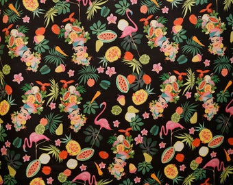 Carmen Miranda fabric black