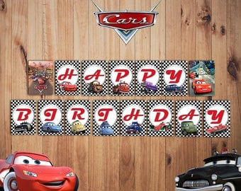 Disney Cars Party Banner, Cars Birthday Banner, Cars Banner, Cars decoration, Cars Party Supplies, Cars Party Banner| CARS_BANNER