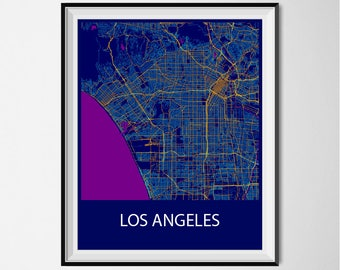 Los Angeles Poster Print - Night