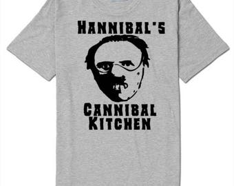 Hannibal Lector Cannibal Kitchen T Shirt Clothes Many Sizes Colors Custom Horror Halloween Merch Massacre