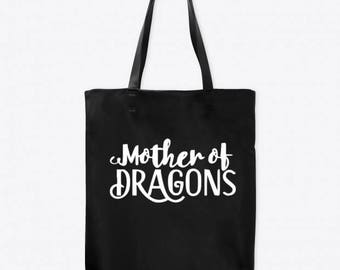 Mother of Dragons Game of Thrones Horror Canvas Tote Bag Market Pouch Grocery Reusable Halloween Merch Massacre Black Friday Christmas