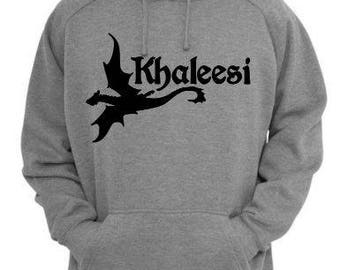 Khaleesi Dragon Game of Thrones GOT Unisex Hoodie Pullover Hooded Sweatshirt Many Sizes Colors Custom Horror Halloween Merch Massacre