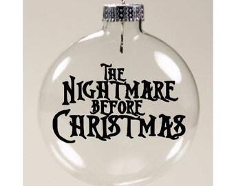 The Nightmare Before Christmas Jack Skellington Christmas Ornament Glass Disc Holiday Horror Merch Massacre