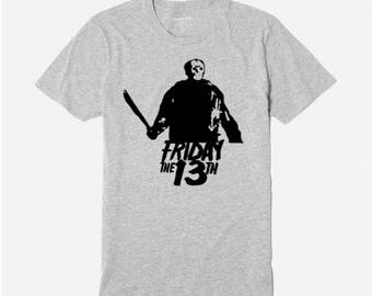 Jason Vorhees Friday the 13th T Shirt Clothes Many Sizes Colors Custom Horror Halloween Merch Massacre