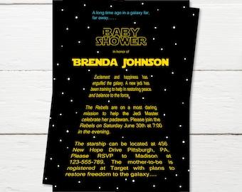 Star Wars Baby Shower Invitation, It's a Jedi, The Force Awakens, Star Wars Theme, Star Wars Party, Star Wars Invitation, Digital or Printed