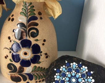 snowflake mandala stone