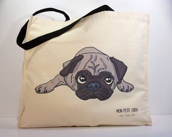 Pug shopping bag - Tote bag for Dog lovers