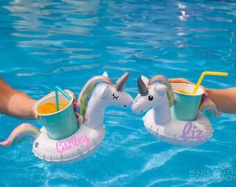 Monogrammed Drink Float, Personalized Drink Float, Custom Drink Float, Bachelorette Party, Drink Float, Unicorn Float, Bridal Party,Birthday