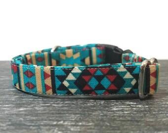 Aztec Cat Collar, Tribal Collar, Cat Collar, Cat Collars, Native American Print Collar, Tribal Cat Collar, Breakaway Cat Collar, Safe Collar