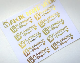 Planning Time - FOILED Sampler Event Icons Planner Stickers