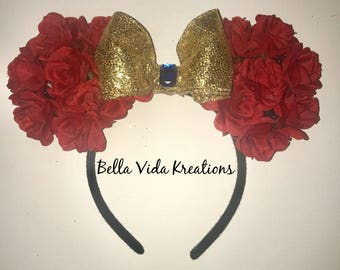 Beauty and the Beast Belle inspired Disney Ears