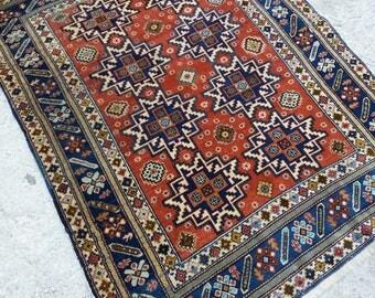 Oushak Rug,Turkish Vintage Rug, Area Rug, Office Decor,3'x6''x4'5''ft,Star Desing Rug,Home Living,Fashion Rug,Floor Rugs, Rug,
