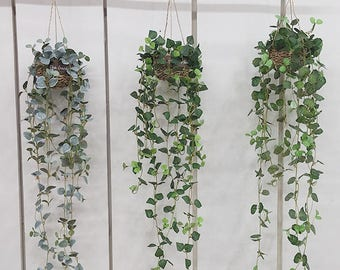 Artificial Ivy Hanging Basket / Plants For Home Decoration / Artificial plants vine Garland / Ivy Wall Decoration / Ivy Wall Hanging