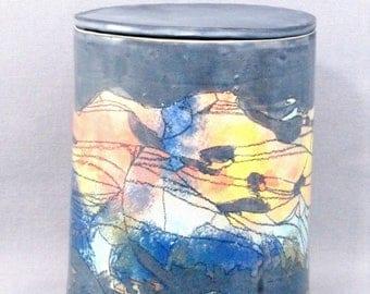 Box (pot) large ceramic handmade