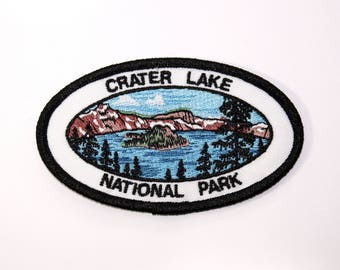 Official Crater Lake National Park Souvenir Patch Oregon Scrapbooking FREE SHIPPING