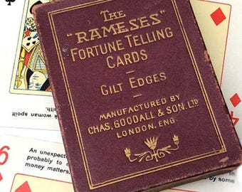 The Rameses Fortune Telling Cards. Chas Goodall c. 1910. Full Deck/Leaflet. Fortune Telling Cards. Cartomancy. Divination Cards. Fortune