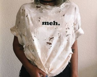 Distressed Vintage T-shirt - Meh