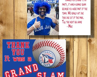 Toronto Blue Jays 4x6 Thank You Note Cards