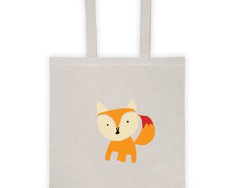 Tote bag, Bag, shopping bag, tote, canvas tote bag, cotton tote bag, Christmas gift bag, Christmas bag, Christmas gift idea - Fox
