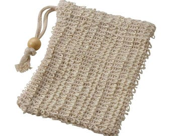 Eusi's African Sisal Washcloth         Soap Saver Pouch