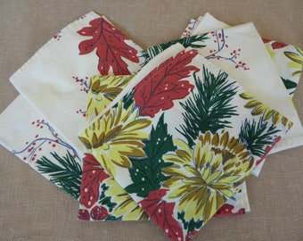 Vintage Christmas Napkins Set of 6