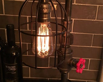 Manchester Pub Lamp #113 Steampunk Industrial Pipelamp