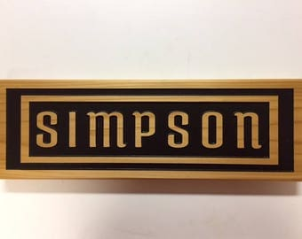 Personalized Custom Made Carved Raised Letter Family Name Cedar Wood Sign Gift Personalized Camping Signs Custom Outdoor Name Signs