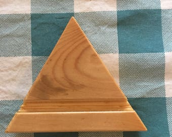 Phone or tablet stand triangle, handcrafted