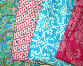 Jennifer Paganelli Fabric Bundle  -  Pink and Blue Bundle   Out of Print fabrics