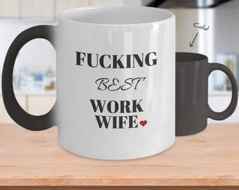 Work Wife Coffee Mug, Inappropriate Mug, Work Wife Gifts, Fucking Best Work Wife, Work Wife Gifts, Work Husband Mug, Inappropriate mug 10786