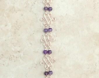 Bracelet Celtic Knot Work and Gemstone