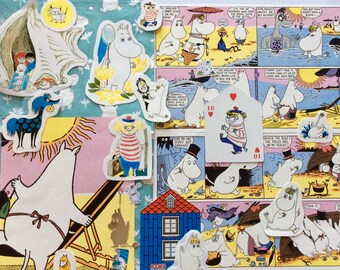 MOOMIN MAYHEM craft pack - Snorkmaiden vintage, contemporary and collectible ephemera, scrap pack, Tove Jansson