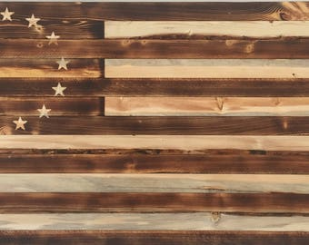 Torched 1776 American Flag