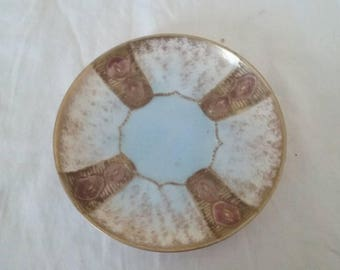 Vintage Handpainted Art Style Small/Plate/Tray/Candle/Jewelry Dish/Simple Decoration/Entryway Piece