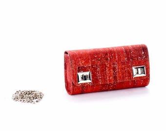 Clutch evening chic woman Cork / cork purse.