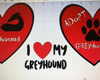 Custom Greyhound love decals