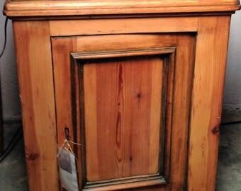 Bottle Cabinet, kitchen cabinet, antique, oiled soft wood